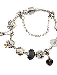 European And American Fashion Punk Wind Peach Heart Bracelet