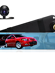 4.3 Mirror Car DVR Dual Camera Support Backup Rear Cameras FHD 1080P Video Registrator Recorder Parking Monitor Auto Black box