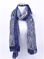 Printing  sky Silk Scarf Infinity Light Weight Long Silk Scarves