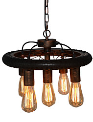 Iron Water Pipe Tires Chandeliers Retro Industrial Feng Shui Pipe Bicycles Bar Bar Lighting Cafe