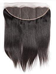 10inch braizlian fechamento laço frontal reta melhores virgens brasileiras fechamentos de cabelo humano livre / médio fechamento / 3part