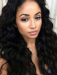 9a grau lace frente cabelo humano perucas onda de água com cabelo do bebê 130% densidade peruano virgem cabelo glueless lace wigs cabelo
