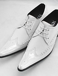 Для мужчин обувь Полиуретан Лето Удобная обувь Мокасины и Свитер Назначение Повседневные Белый Черный Вино