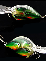 "2 pcs Crank Fishing Lures Hard Bait yellow shad glass green g/Ounce,100 mm/4"" inch,Hard Plastic Bait Casting"