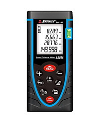 Sndway sw-150 portable digital 150m 635nm laser mesureur de distance (1.5v aaa batteries)