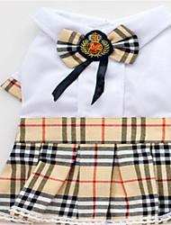 Cão vestido cão roupas primavera / outono xadrez / verificar casual / diária