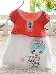 Baby Casual/Daily Print Dress,Cotton Summer-