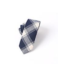 Cravate d'affaires masculine décontractée en coton décontracté