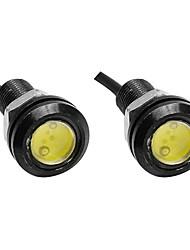 2pcs 23mm couleur blanche aigle oeil lumière voiture brouillard drl journée de sauvegarde inverse station de stationnement lumière lampe
