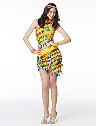Мы должны танцевать наряды для женщин chinlon sequined 2 части верхней юбки