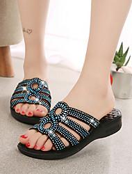 Women's Slippers & Flip-Flops Grace Color Block Soft Upper Spring Summer Comfort Dress Casual Low Heel Please choose big one yardRhinestone