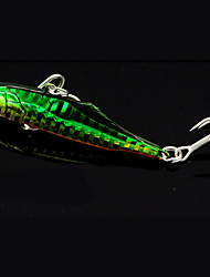 "1 pcs Metal Bait Fishing Lures Pike White Red glass green g/Ounce,80 mm/3-1/4"" inch,Metal Bait Casting"