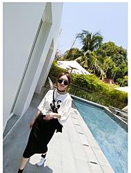 Tee-shirt Femme,Imprimé Sortie simple ½ Manches Col Arrondi Coton