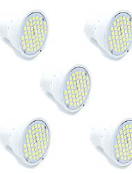 3W GU10 GX5.3 Spot LED MR16 48 SMD 2835 300 lm Blanc Chaud Blanc Froid Décorative AC 100-240 V 5 pièces