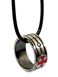 Inspired by Templar Order Anime/ Video Games Cosplay Accessories Ring Necklace Silver Alloy I.D 19MM
