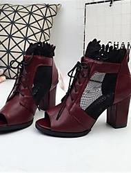 Damen-Sandalen-Lässig-PUKomfort-Weiß Schwarz Rot