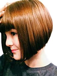 marrone mista fragola bionda due toni stile di capelli bob stile caldo scuro natual con frangia diritta parrucche sintetiche senza