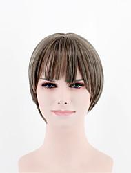 Япония и Южная Корея мода модели длинные волосы градиент коричневый смешанный естественный песня высокотемпературный провод парик