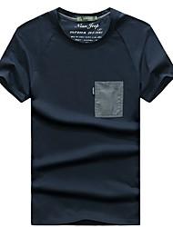 Homme Tee-shirt Pêche Respirable Eté Blanc Noir Marine foncé