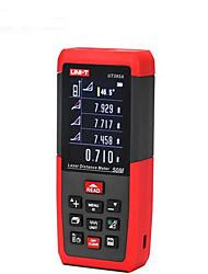 Единица ut395a цифровой измеритель расстояния лазера 50m 635nm с расстоянием&Измерение угла (батареи 1.5v aaa)