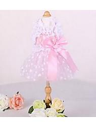 Chien Robe Vêtements pour Chien Décontracté / Quotidien Mode Princesse Jaune Rose