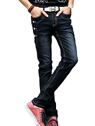 Men's Solid Casual Jeans,Cotton Black / Gray
