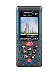 Sndway sw-q120 portable portable 120m 635nm laser mesureur de distance (1.5v aaa batteries)