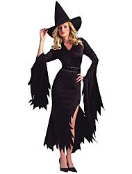 Costumes de Cosplay Sorcier/Sorcière Fête / Célébration Déguisement d'Halloween Autres Robe Ceinture Chapeau Halloween FémininElasthanne