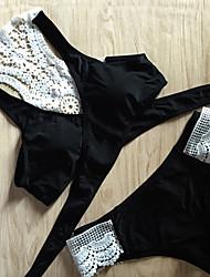 Womens Nylon Lace Wine Or White  Cross  Bikini