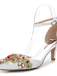 Women's Sandals Summer Fall D'Orsay & Two-Piece Silk Wedding Office & Career Party & Evening Dress Casual Stiletto HeelRhinestone Crystal