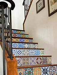 Геометрия Наклейки 3D наклейки Декоративные наклейки на стены,Винил материал Украшение дома Наклейка на стену