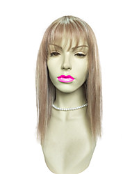 Top Quality Wig Blonde Long Straight Wig With Air Bangs Costume Fashion Wig