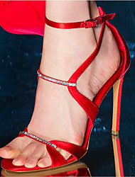 Damen-Sandalen-Kleid-PU-Stöckelabsatz-Club-Schuhe-