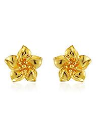 Peckové náušnice Květiny Měď Flower Shape Zlatá Šperky Pro Svatební Párty Zásnuby 1 pár