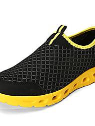 Da uomo-scarpe da ginnastica-Casual-Comoda-Piatto-Tulle-Grigio Nero e Blue Nero/Giallo Royal Blue