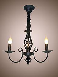 Lámparas Araña ,  Tradicional/Clásico Pintura Característica for Estilo de la vela Metal Dormitorio Comedor Sala de niños Vestíbulo Hall