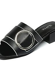 Women's Sandals Summer Comfort PU Outdoor Low Heel