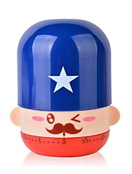 Cute Cartoon Little Guards Mechanical Kitchen Timer (Random Color)