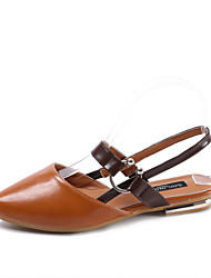 Feminino-Sandálias-Buraco Shoes-Rasteiro--Courino-Ar-Livre Social Casual