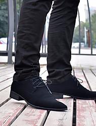 Hommes oxfords printemps confort fourrure nappa cuir casual noir
