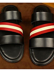 Men's Slippers & Flip-Flops Spring Comfort PU Casual Screen Color Black White
