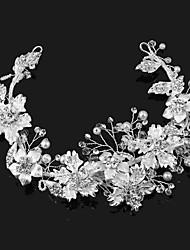 Pérola liga imitação pérola cabeça-casamento ocasião especial tiaras ao ar livre 1 peça