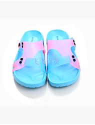 Women's Sandals Slingback Rubber Summer Casual Flat Heel Red Blue 1in-1 3/4in