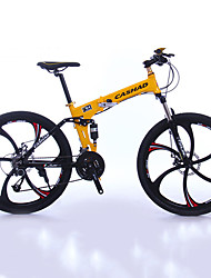 Mountain Bike Folding Bike Cycling 27 Speed 26 Inch/700CC 50mm Men's Unisex Adult SHIMANO Double Disc Brake Suspension ForkAluminium