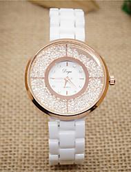 Women's Fashion Watch Quartz Ceramic Band White Brand