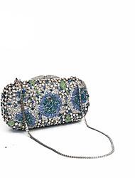 Embreagens de cristal de luxo de mulheres e sacos de noite com design floral