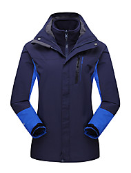 Women's 3-in-1 Jackets Waterproof Thermal / Warm Windproof Dust Proof Breathable Double Sliders Woman's Jacket Winter Jacket 3-in-1