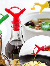 Double End Capped Mouth Bottle Stopper Is Poured Down The Size Of Aperture Pour Wine Stopper Nozzle Liquid Flow Diverter Color Random