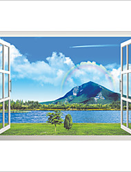 3D Wall Stickers Wall Decals Style The Lake Snow Mountain PVC Wall Stickers