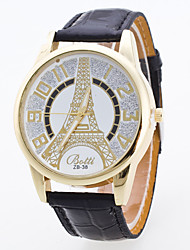 Women's Fashion The Eiffel Tower Waterproof Quartz Watch
